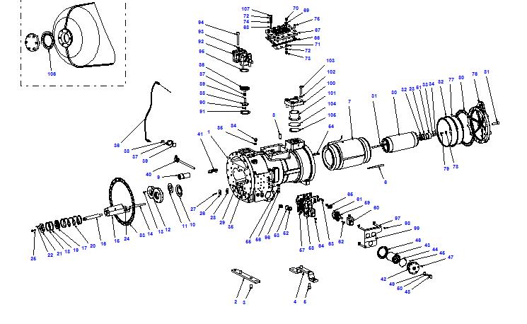 Compressor body CXH01 60- 230