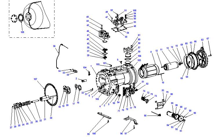 Compressor body CXH52 110-316