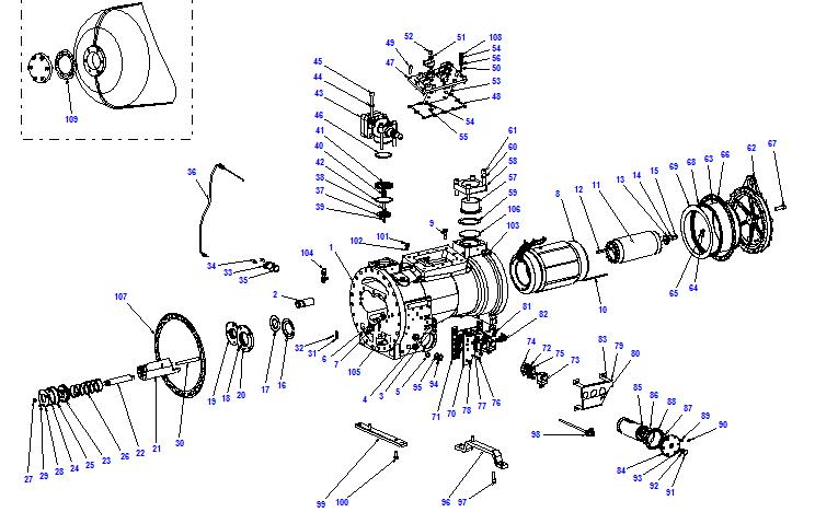 Compressor body CXH51 110- 398
