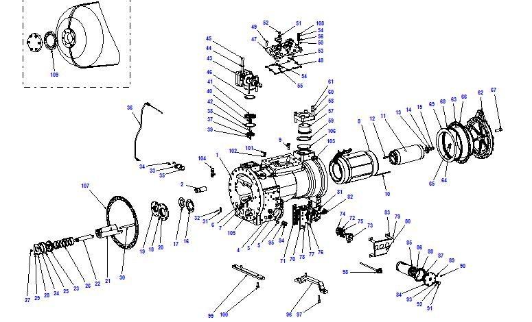 Compressor body CXH51 125- 468