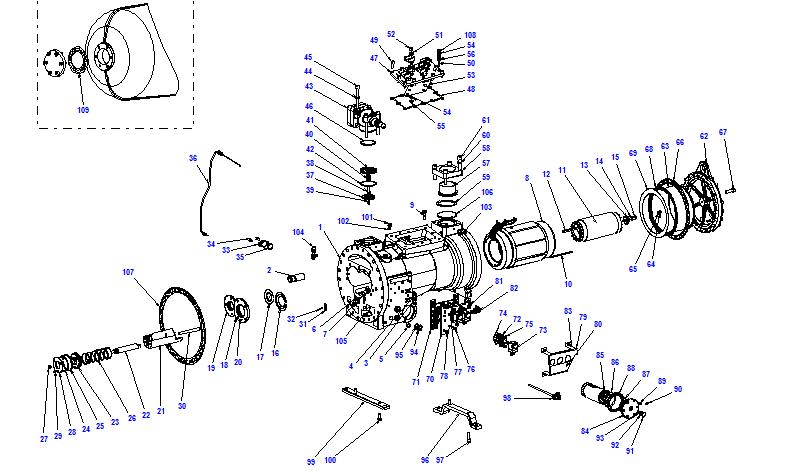 Compressor body CXH52 140- 428