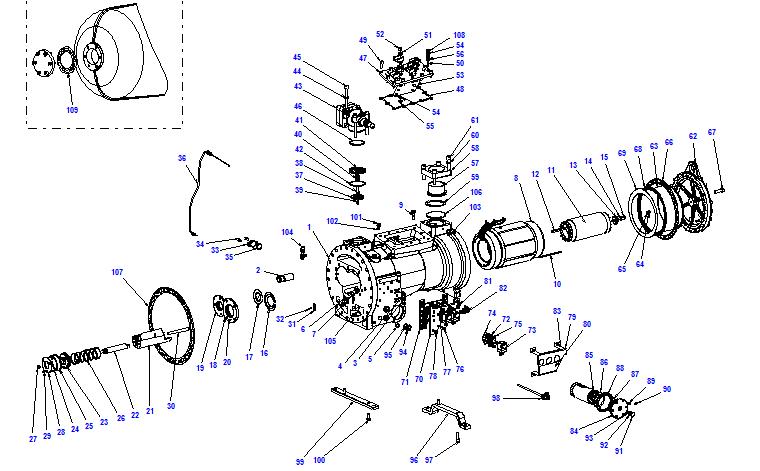 Compressor body CXH51 140- 538