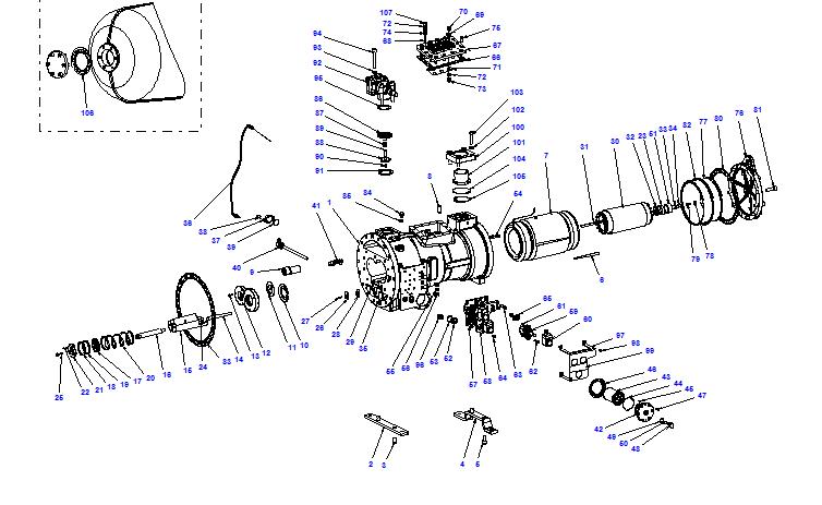 Compressor body CXH01 70- 264