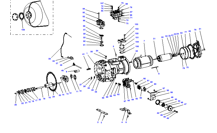 Compressor body CXH01 80-298