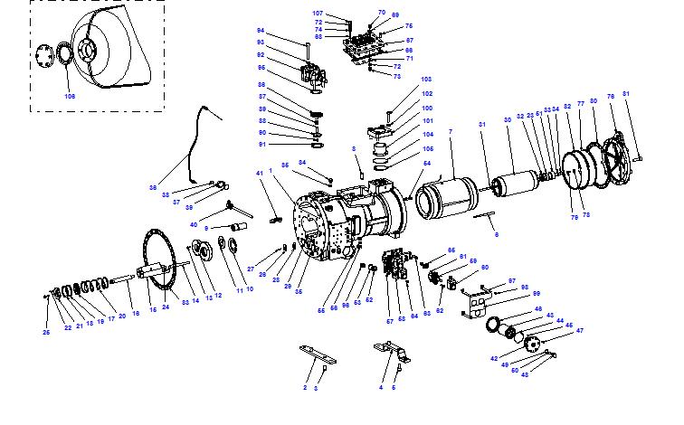 Compressor body CXH01 100- 370