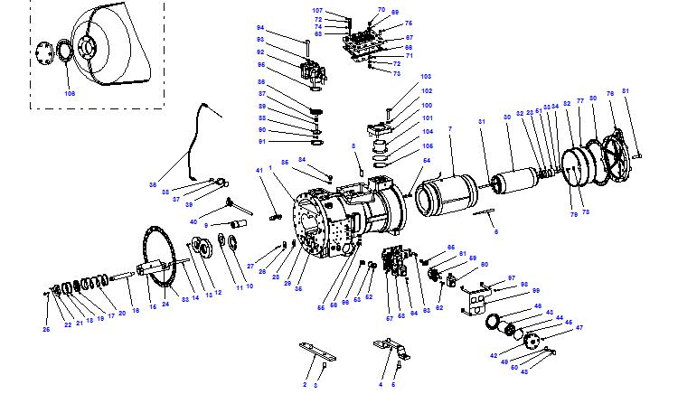 Compressor body CXH02 70- 199