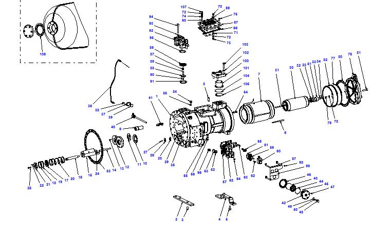 Compressor body CXH02 100- 298